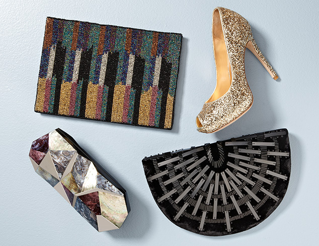Fall Forward: Embellished Shoes & Accessories at MYHABIT
