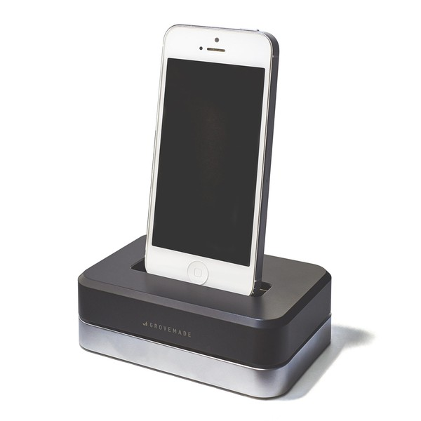 GROVEMADE Limited Edition iPhone Dock in Silver Black_2