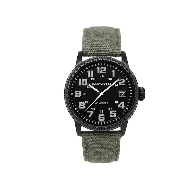 Szanto 1101 Vintage Inspired Military Field Watch