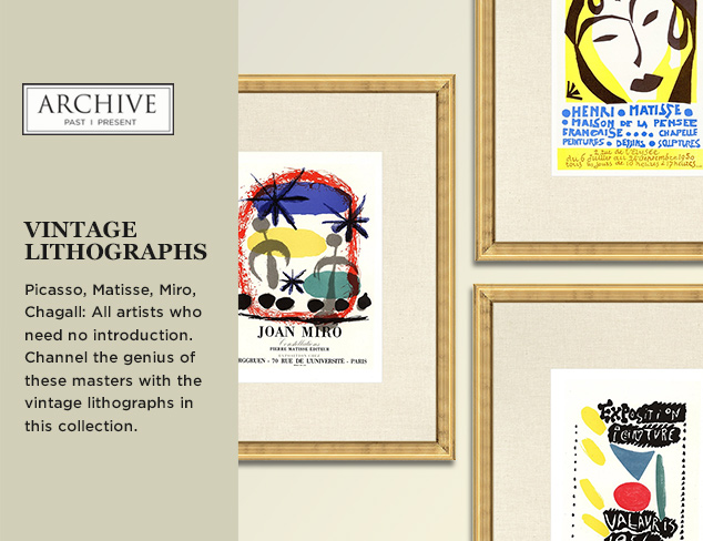 ARCHIVE: Vintage Lithographs at MYHABIT