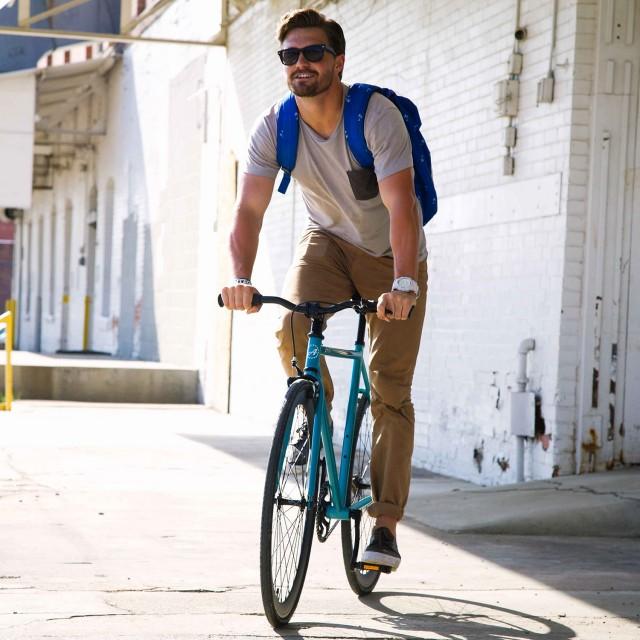 ATIR Cycles Single Speed / Fixed Gear Urban Road Bike in Turquoise + Matte Black