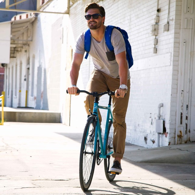 ATIR Cycles Single Speed / Fixed Gear Urban Road Bike in Turquoise + Matte Black