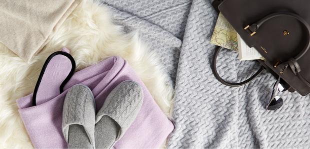 Cashmere Comforts: Throws, Socks, Slippers, & More at Rue La La
