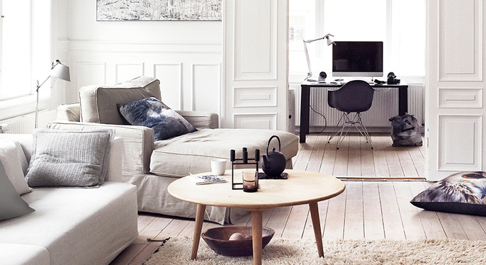 Design Duo: Wood & White at Gilt
