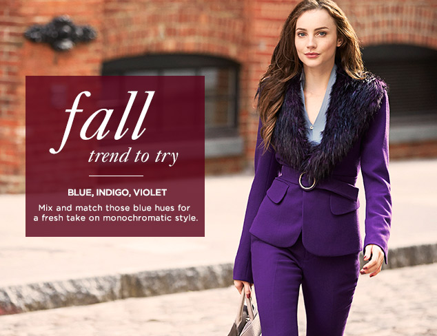 Fall Trend to Try: Blue, Indigo, Violet at MYHABIT