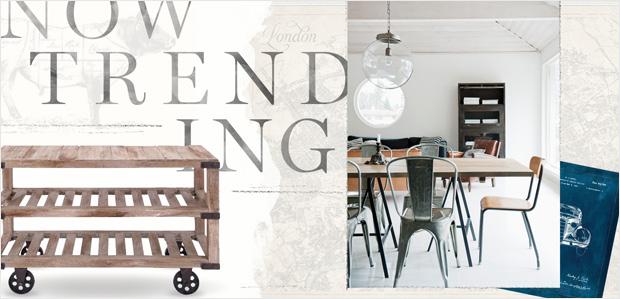 Industrial-Chic Furniture & Decor: Now Trending at Rue La La
