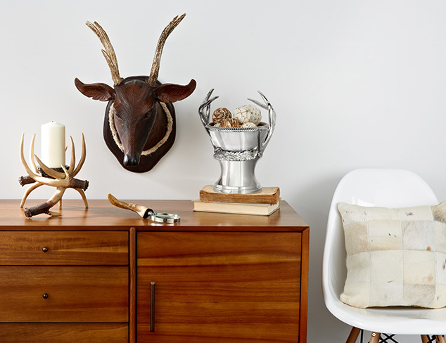 Lodge-Inspired Accents: Horns & Hides at MYHABIT