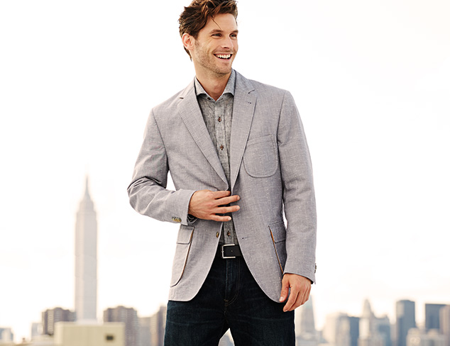 Kroon Harrison Two Button Chambray Sportcoat