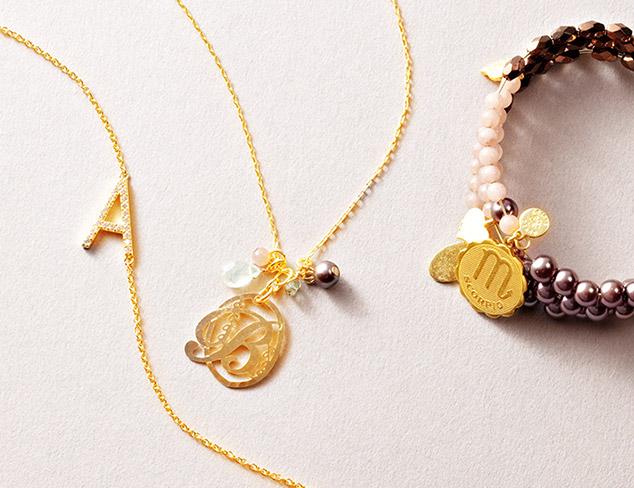 Personalized Jewelry: Initials, Zodiac & More at MYHABIT