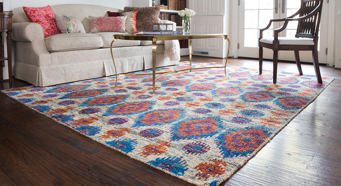 Silk Rugs from Neutral to Bold at Gilt