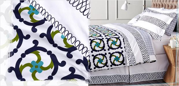 The Preppy Bedroom: Gingham Linens & More at Rue La La