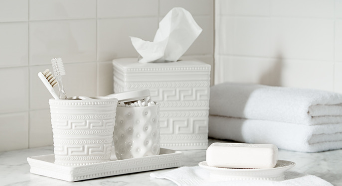 White Towels & Accessories at Gilt