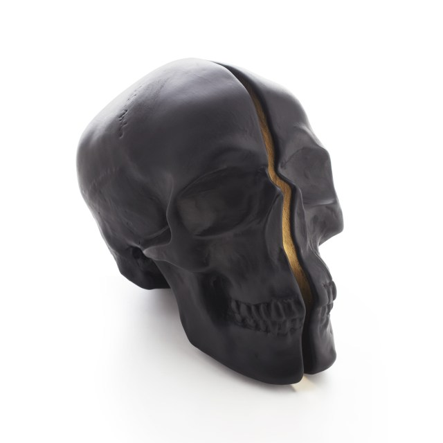 Vion Design Yorick Split Skull Lamp in black