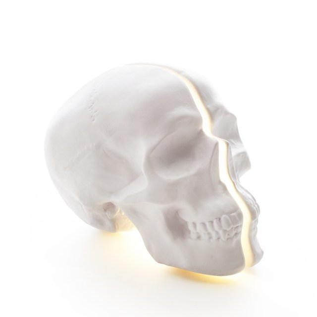 Vion Design Yorick Split Skull Lamp in white