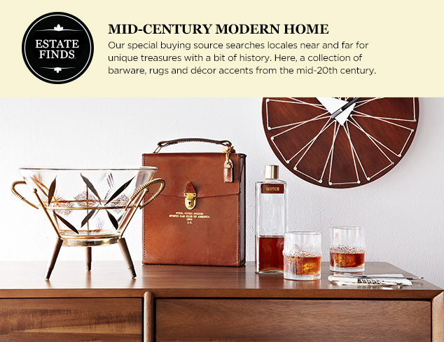 Estate Finds: Mid-Century Modern Home at MYHABIT