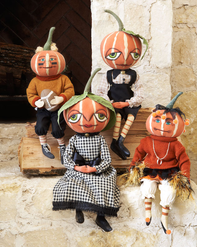 Gathered Traditions by Joe Spencer Pumpkin Doll Decorations
