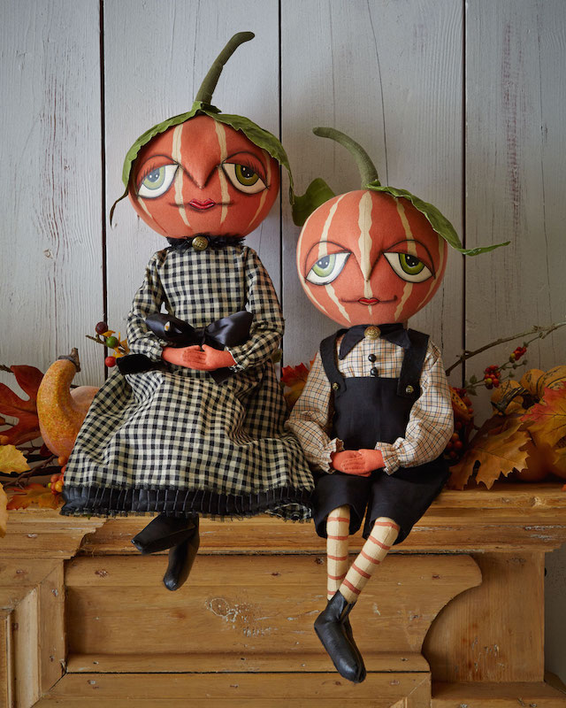 Gathered Traditions by Joe Spencer Pumpkin Doll Decorations_2