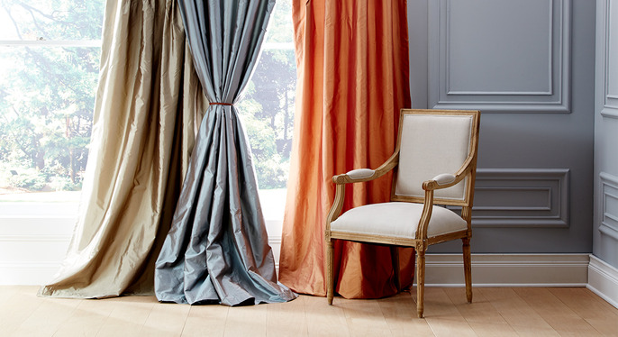 Luxe Silk Window Treatments at Gilt