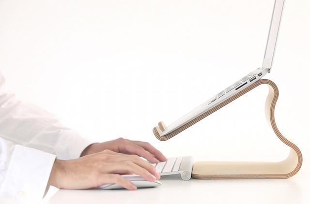 MOKU Woodware Desktop Stool Laptop Stand_5