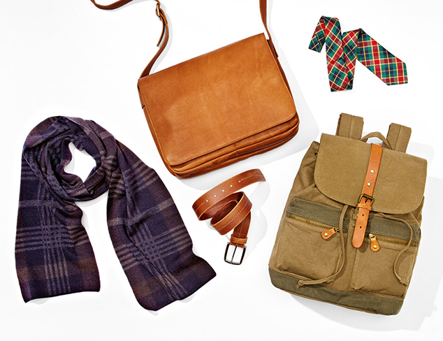 Tans & Plaids: Ties, Belts, Bags & More at MYHABIT