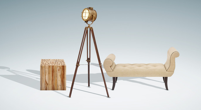 Uma: Rustic Furniture & Lighting at Gilt