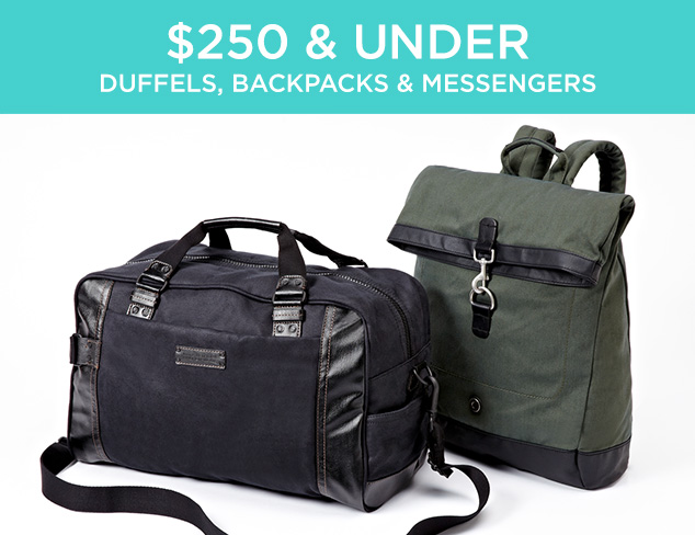 $250 & Under: Duffels & Backpacks at MYHABIT