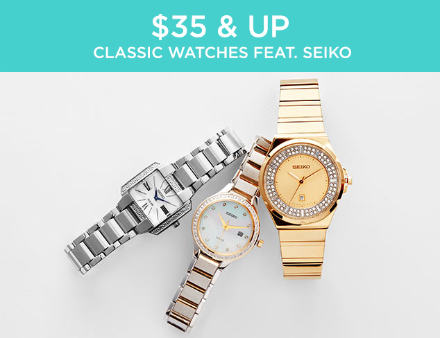 $35 & Up: Classic Watches feat. Seiko at MYHABIT