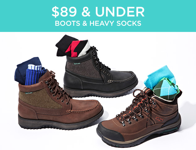 $89 & Under: Boots & Heavy Socks at MYHABIT