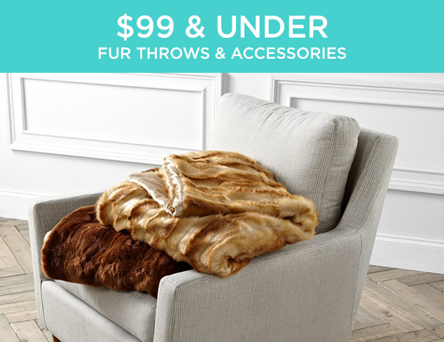 $99 & Under: Fur Throws & Accessories at MYHABIT