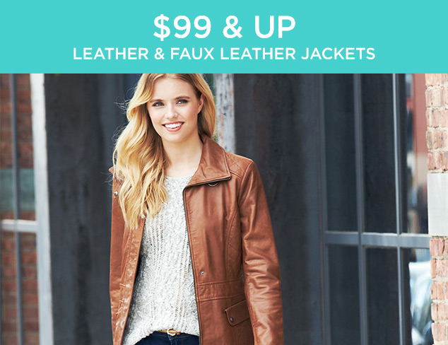 $99 & Up: Leather & Faux Leather Jackets at MYHABIT