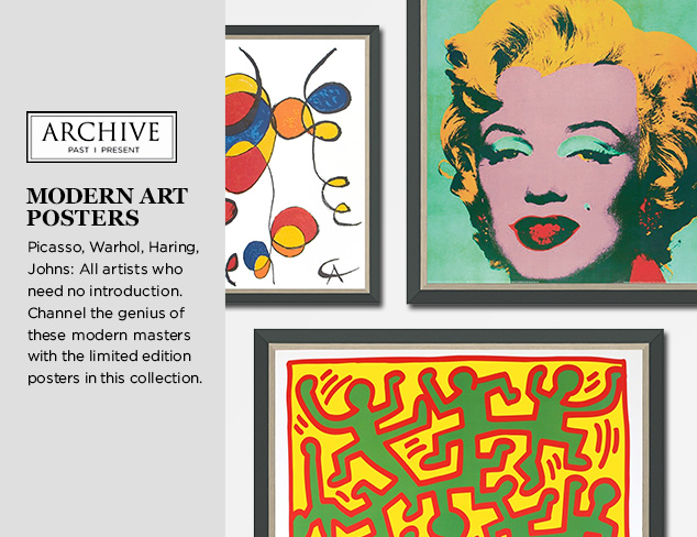 ARCHIVE: Modern Art Posters at MYHABIT