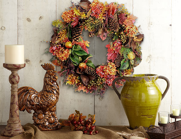 Autumnal Accents: Candles, Wreaths & More at MYHABIT