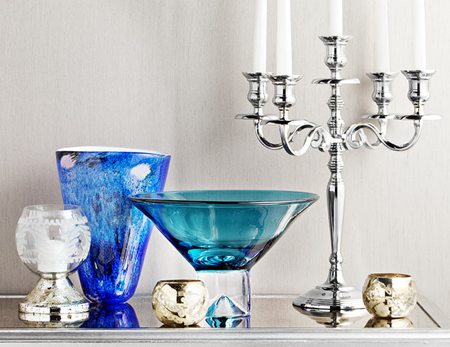 Color Cues: Silver & Blue Décor at MYHABIT