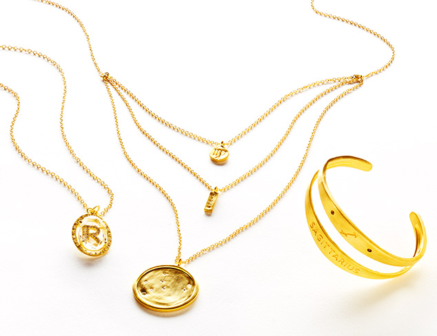Initial & Astrology Jewelry by Kevia at MYHABIT