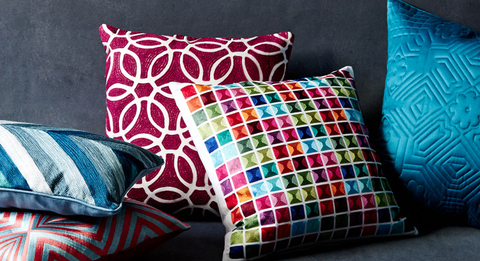 Jewel-Tone Pillows at Gilt