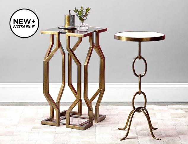 Metallic Accent Furniture by Prima Design Source at MYHABIT
