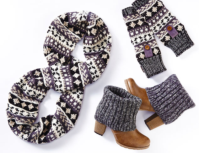 Muk Luks Knitted Boots & Accessories at MYHABIT