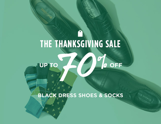 Up to 70% Off: Black Dress Shoes & Socks at MYHABIT