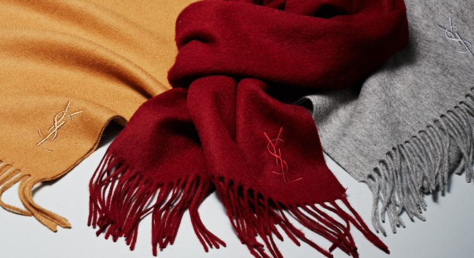 Yves Saint Laurent Scarves at Gilt