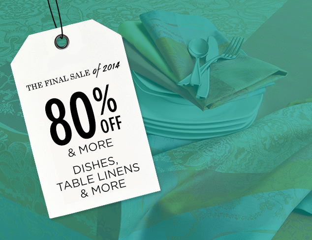 80% Off & More: Dishes, Table Linens & More at MYHABIT