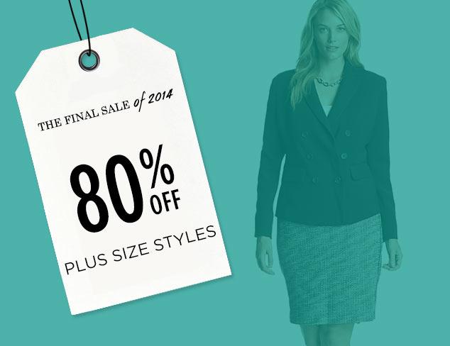 80% Off: Plus Size Styles at MYHABIT