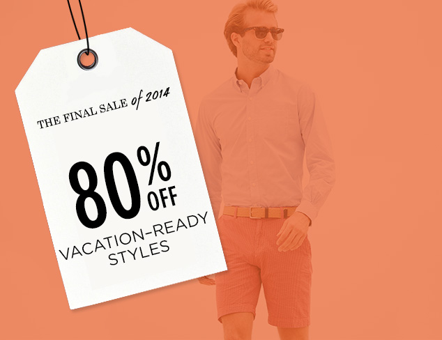 80% Off: Vacation-Ready Styles at MYHABIT