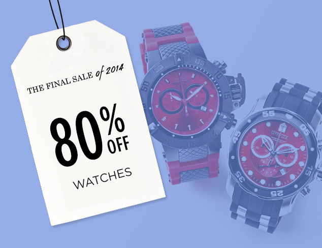 80% Off: Watches at MYHABIT