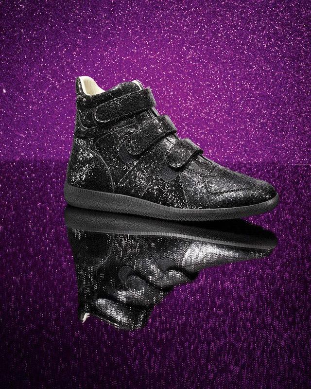 Maison Martin Margiela Glitter Triple-Strap Sneakers