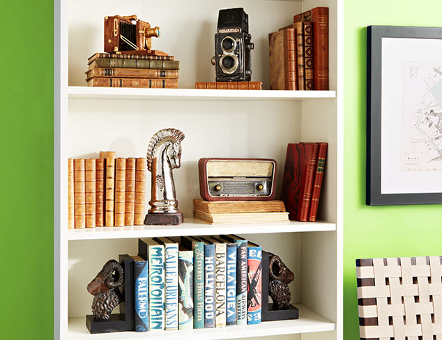 Show & Tell: Bookshelf Accents at MYHABIT