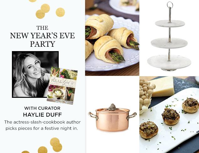 The Curator: Haylie Duff's NYE Entertaining Picks at MYHABIT