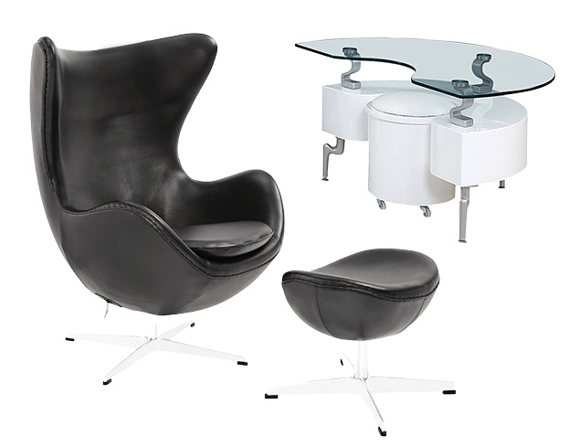 Furniture in Black & White at MYHABIT