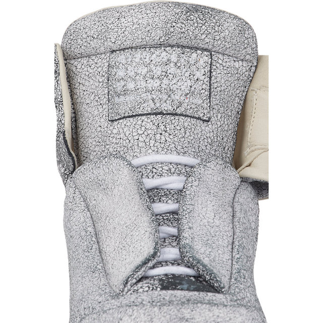 Maison Martin Margiela Cracked Leather Ankle-Strap Sneakers_5