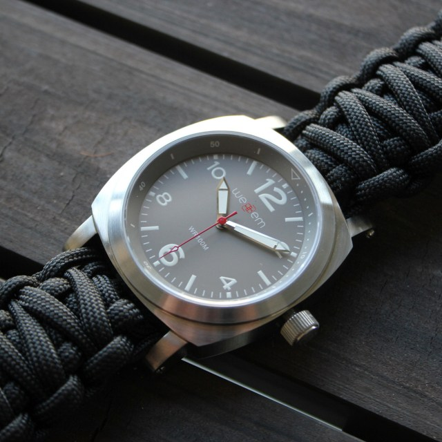 weBBem Traveler // Earl Grey + Black Paracord Strap