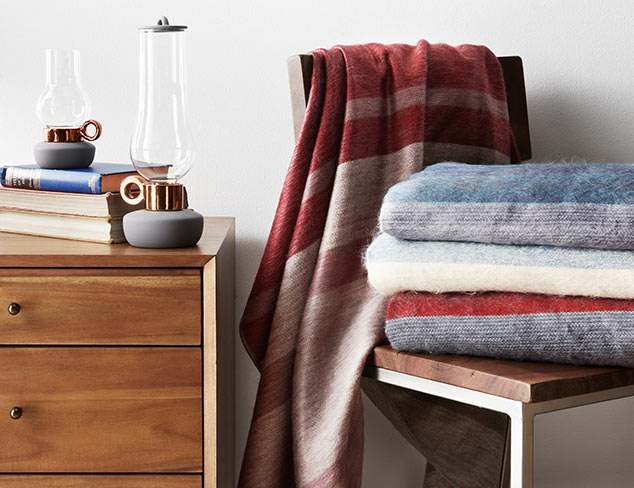 Up to 50% Off: Cashmere, Wool & Alpaca Throws at MYHABIT